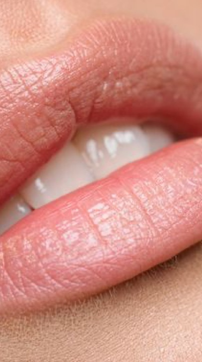 Close up of a woman's lips